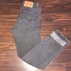 NEW Levi's Orange Tab Grey 505c Cropped